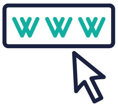 world wide web mouse icon